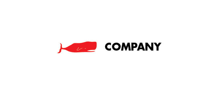 Logo 10 red whale