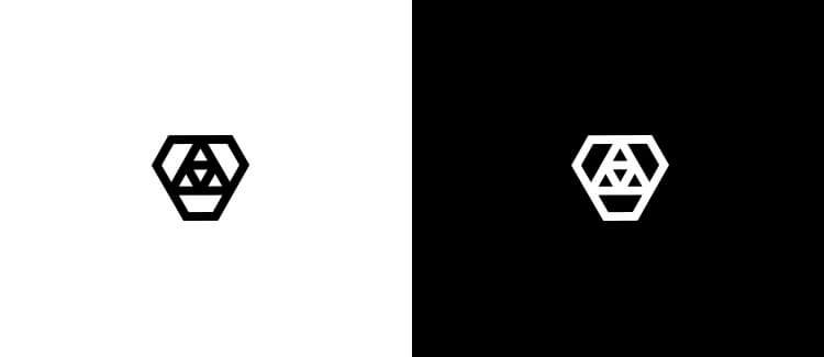 Logo 19 black white