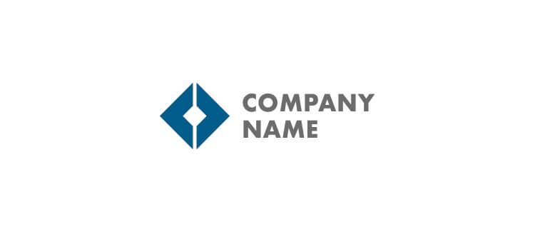 Logo 5 dark blue layout